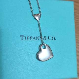 保證真品 蒂芬妮 Tiffany 純銀 雙愛心 heart 項鏈 項鍊 二手 蒂芙妮 自然擺動 墜子 絕版品 九成新