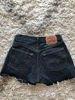 Levi's 501 Destroyed Denim Shorts