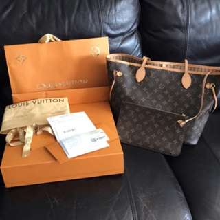 Louis Vuitton LV monogram Neverfull MM Handbag