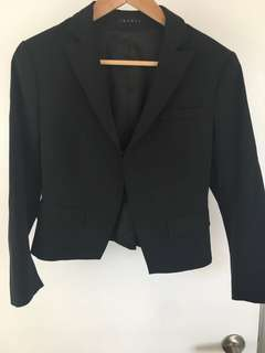 Theory cropped Blazer sz 6