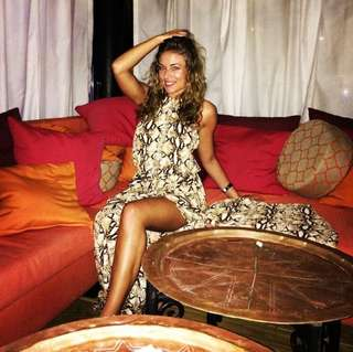 Mura open back leopard dress