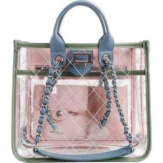 Premium Quality Macaron Transparent Tote Bag