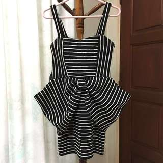 Ribbon Design Bodycon Dress