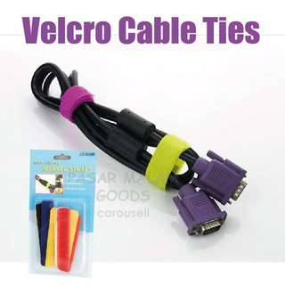 Instock Velcro Cable Ties Reusable Cable Cord Organizer 6 in a Pack