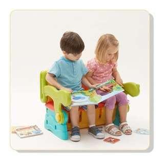 Pratical Kids Storage Table/Chair/Storage - 3 In 1 Multipurpose Set