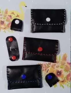 Leather purse & cabLe CLip set
