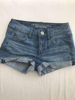 American Eagle Denim Shorts size 0