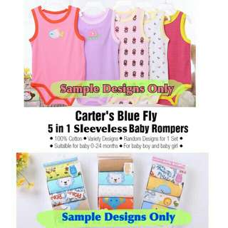 babycorp 5pcs set carter's sleeveless onesie free shepping  men order 500
