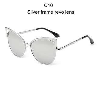 Cat Eye Women's Sunglasses Shades Metal FrameCat Eye Women's Sunglasses Shades Metal Frame