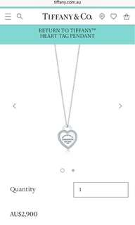 Tiffany and co diamond heart necklace