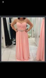 Beautiful Brand New Peach Prom Dress