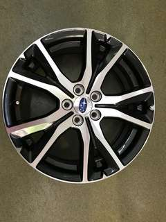 "17"" 5x100 subaru  oem new car take off rim"