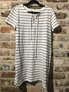 SEED Striped TShirt Dress Size 10
