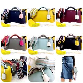 FENDI Boston By The Way Colorblock Spring Summer 2018 with WAVE Multi Strap