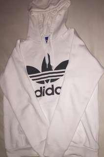 White Adidas jumper