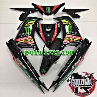 Coverset yamaha 135LC V2 V3 V4 monster energy tech 3 hafizh syahrin