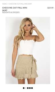 (REDUCED PRICE) Dissh Check Me Out Frill Skirt BRAND NEW WITHOUT TAGS