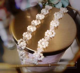 Handmade人手串淡水珍珠手鍊 手鐲 手鏈,可訂製頸鏈及長度