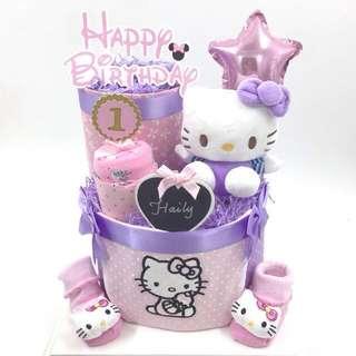 Hello Kitty 2-tier Diapers cake Customisation
