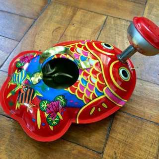 Vintage  Fish Tin Can Toy