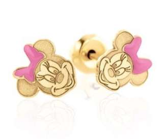 Minnie Mouse Earrings Piercing Usa