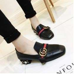 GG Flat leather shoes