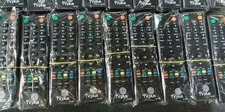 Universal remote, tv plus remote , clipfan , led bulb