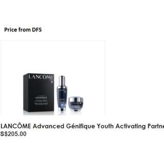 Lancome Genifique Set from DFS, including eye cream
