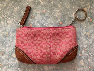 Coach coin and key pouch