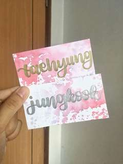 bts customised cards