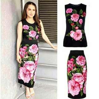 Floral terno freesize S to L