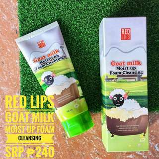 Red Lips Goat Milk Moist Up Foam Cleansing