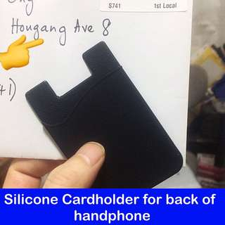 Silicone Cardholder for Cellphone ( handphone / mobile phone card holder pouch; practical gifts) [uncle anthony] FOR MORE PICS & DETAILS, 👉 http://carousell.com/p/119403435