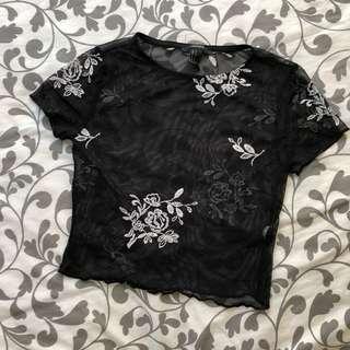 F21 mesh floral top