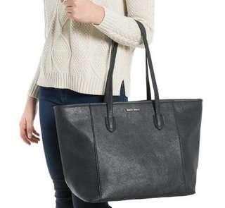 Mango Mng Black Shoulder Zip Bag