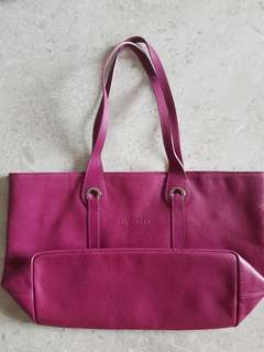 Longchamp leather pink