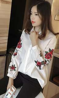 Embroidery blouse (white)