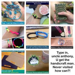 Accessories galore; gift ideas; customisation & personalisation handicraft uncle anthony