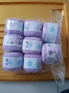 Lace weight crochet thread