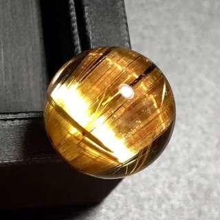 天然钛晶单珠14.5mm
