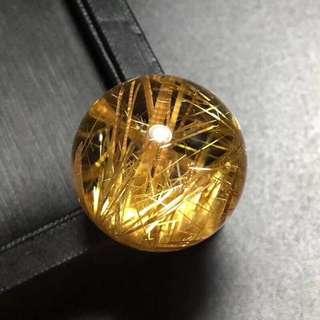 天然钛晶单珠22mm