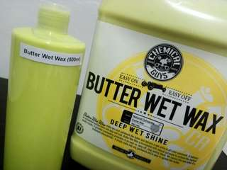500ml Chemical Guys   Butter Wet Wax  In unlabelled refill bottle   with dispensing cap  (Z25VW5K2D)