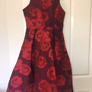 Brand New With tags Beautiful Maroon Dress
