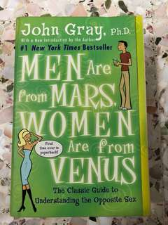 Men Are From Mars Women Are From Venus, John Gray