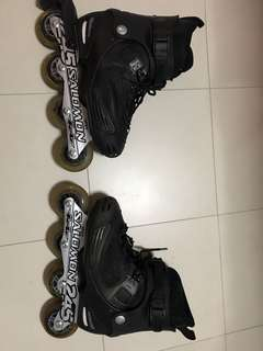 Salomon Rollerblades Women (Sell as Parts due to shell cracked on one shoe)