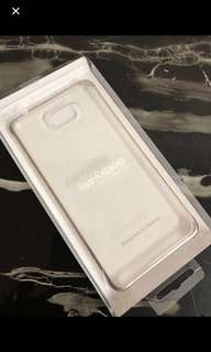 Samsung A9 Clear Case with Gold Edges