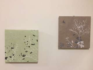 2 Small Fabric Canvases