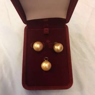 Golden South Sea Pearl (earrings and pendant) 5,000-pendant only 2500-earrings only