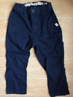 H&M navy blue pants for baby boy 12m