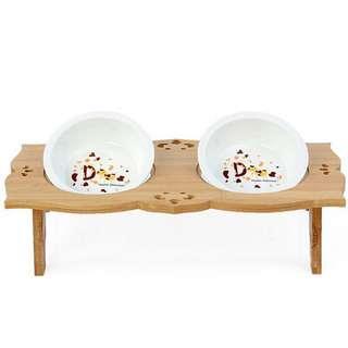 🚚 寵物碗架(含碗、可立)